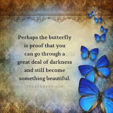 BUTTERFLY QUOTE - THE BUTTERFLY IS PROOF