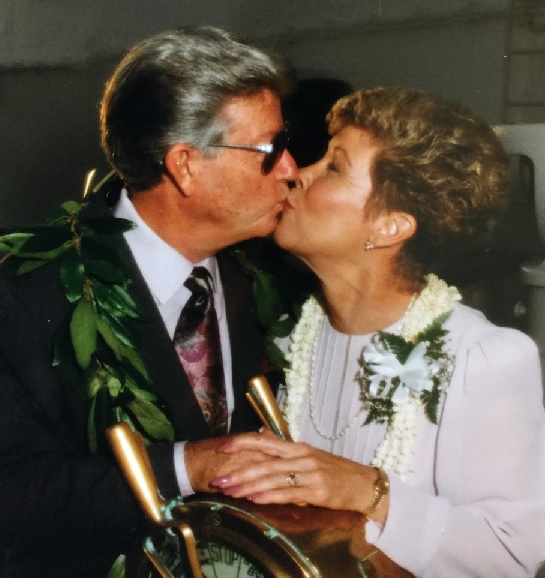DAD AND NANCY - WEDDING KISS
