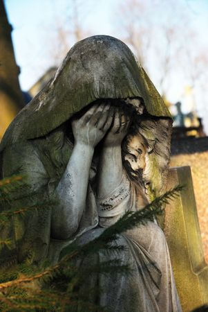 7179819 - statue of the grieving woman