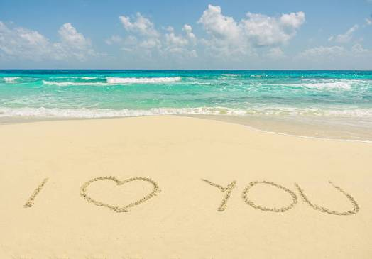 I LOVE YOU ON THE SAND W-SURF