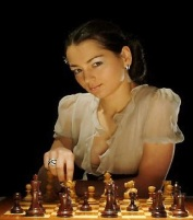 THE LADY PLAYED WHITE - PLAYING CHESS B