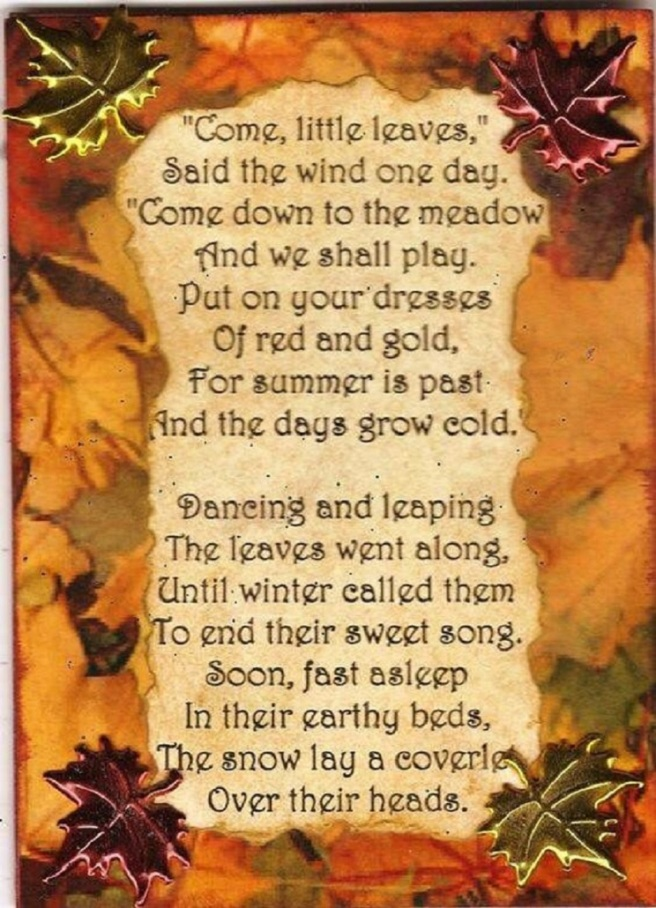 COME - LITTLE LEAVES BY GEORGE COOPER