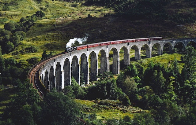 train-on-bridge-in-valley