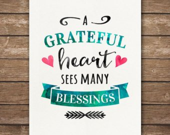 A GRATEFUL HEART SEES MANY BLESSINGS