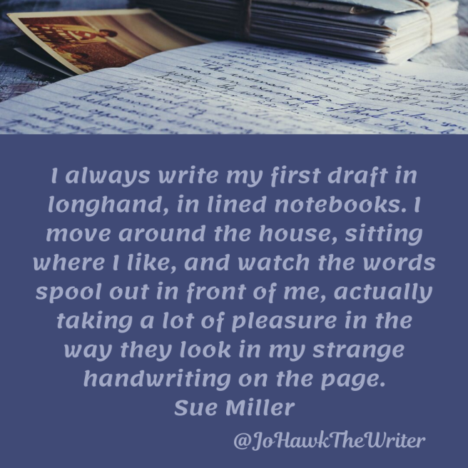 i-always-write-my-first-draft-in-longhand-in-lined-notebooks.-i-move-around-the-house-sitting-where-i-like-and-watch-the-words-spool-out-in-front-of-me-actually-taking-a-lot-of-pleasure