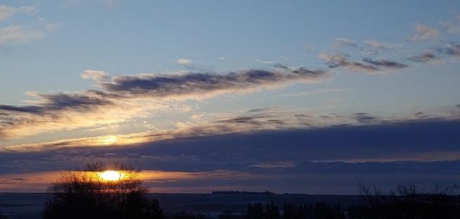 morning emblazoned sun
