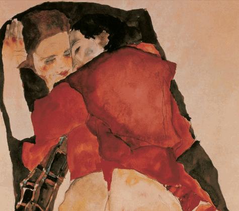 egon-schiele-two-girls-lovers-1