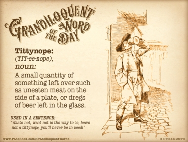 Grandiloquent Word of the Day: Tittynope   learningtogether2012