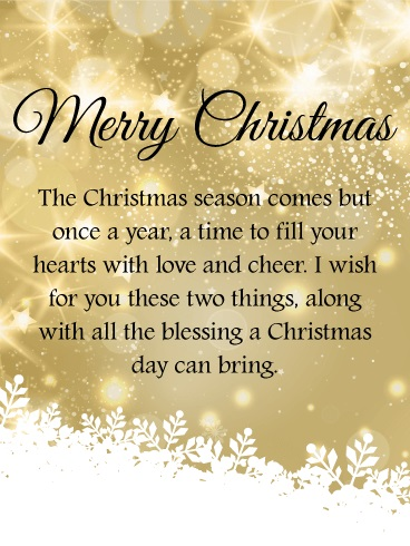 THE BLESSINGS OF CHRISTMAS