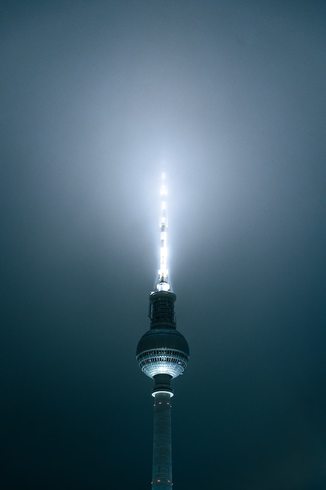 three line tales, week 260: illuminated Fernsehturm top of the Berlin