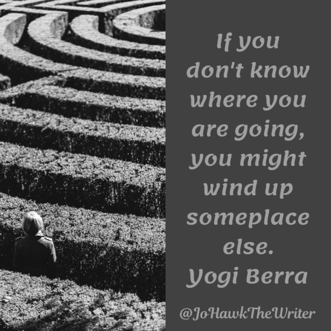If you don't know where you are going, you might wind up someplace else. Yogi Berra